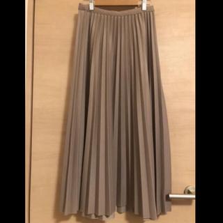 GRL - モカブラウン プリーツスカート ロングスカート