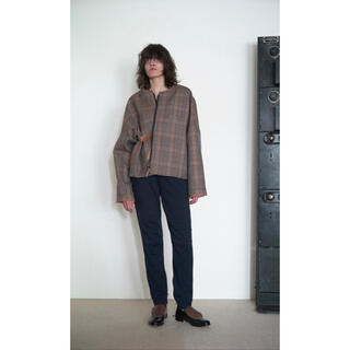 SUNSEA - SUNSEA Reversible Caramel Check Blouson