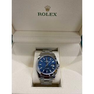 ROLEX - 【超人気】ROLEX DATEJUST 41 青文字盤 126300