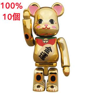 メディコムトイ(MEDICOM TOY)のBE@RBRICK 招き猫 金運 金メッキ 弐 100%×15個セット(その他)