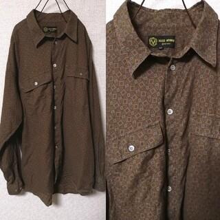 サンタモニカ(Santa Monica)のOLD古着 アメーバ模様柄ペイズリー柄 長袖シャツ(シャツ)