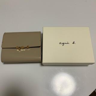 agnes b. - アニエスベー OAW01-01 ウォレット ベージュ 二つ折り財布