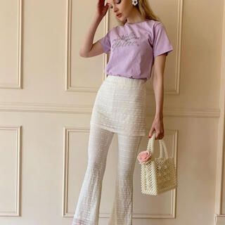 lace skirt pants(ひざ丈スカート)