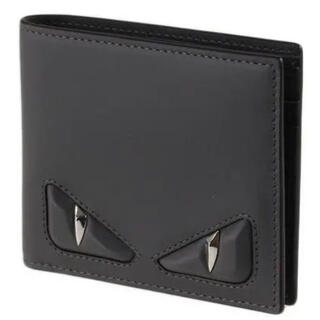 フェンディ(FENDI)のフェンディ FENDI メンズ 二つ折り財布 モンスター バグズアイ 黒(折り財布)