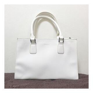 エモダ(EMODA)の【美品】EMODA エモダ バック ハンドバッグ カバン 鞄 ホワイト ブランド(ハンドバッグ)