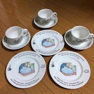 WEDGWOOD - 【旧刻印】ウェッジウッド ピーターラビット 3セット カップ &ソーサー 皿