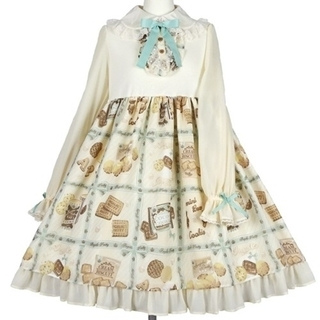 Angelic Pretty - ♡Cream Cookie Collectionカットワンピース(アイボリー)♡