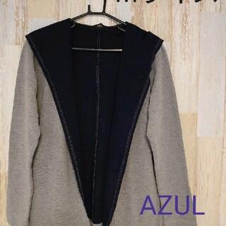 アズールバイマウジー(AZUL by moussy)の【新品】AZUL by MOUSSYカノコ天竺 パーカー(マウンテンパーカー)