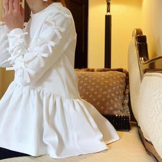 ツルバイマリコオイカワ(TSURU by Mariko Oikawa)のツルバイマイコオイカワ リボントップス(シャツ/ブラウス(長袖/七分))