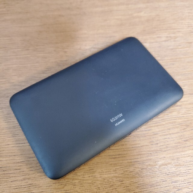 ☆SIMロック解除済み☆ Pocket WiFi 603HW ブラック スマホ/家電/カメラのPC/タブレット(PC周辺機器)の商品写真