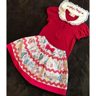 Shirley Temple - シャーリーテンプル セーラーカットソー おさかなスカート セット 110サイズ