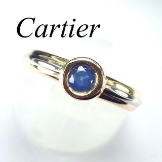 Cartier - カルティエ Cartier K18 YG PG WG サファイア リング トリニ