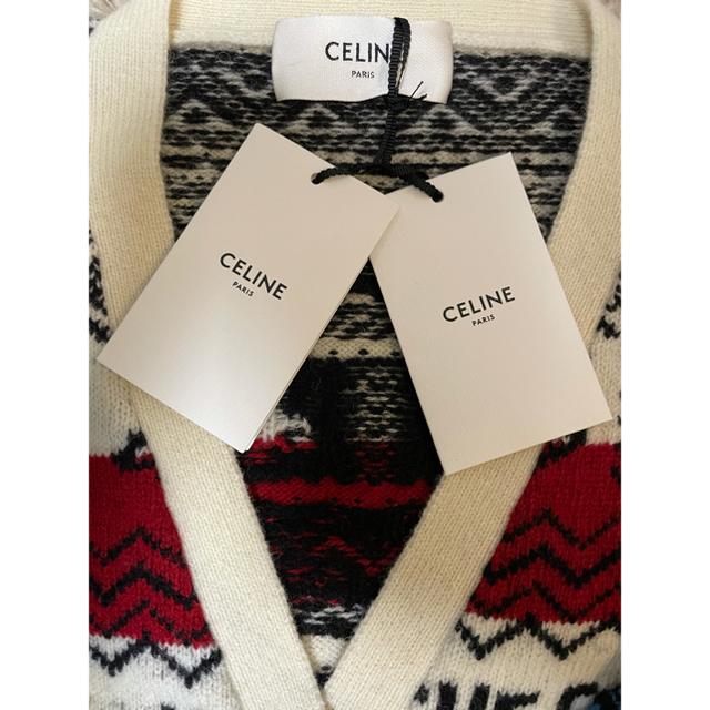 celine(セリーヌ)の21SS CELINE  ルーズニットジャガード カーディガン Sサイズ メンズのトップス(カーディガン)の商品写真