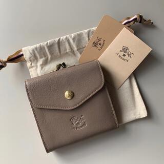 イルビゾンテ(IL BISONTE)の【新品】イルビゾンテ がま口 二つ折り財布 グレー トルトラ(財布)