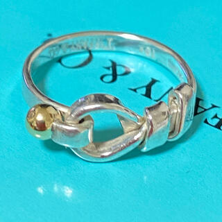 Tiffany & Co. - ティファニーシルバー×18金リング