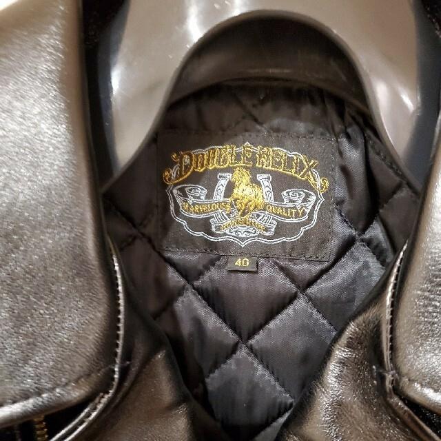 schott(ショット)の再値下【未使用・馬革・茶芯・日本製】ダブルへリックス ダブルライダース メンズのジャケット/アウター(ライダースジャケット)の商品写真