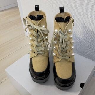 ロニィ(RONI)のRONI♥️🍀 靴厚底ブーツ 21cm(ブーツ)