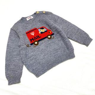 familiar - 【ファミリア】ニット セーター 車 ファミちゃん 100 長袖