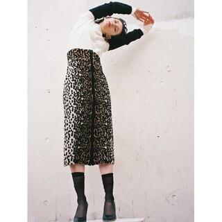 IENA - tan 17aw レオパードスカート