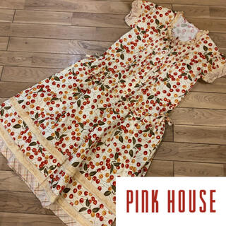 PINK HOUSE - ピンクハウス  PINKHOUSE  チェリー 総柄 ワンピース ドレス
