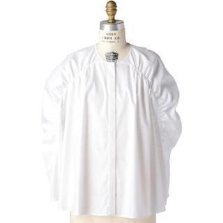 Drawer - Drawer ドゥロワー ギャザースリーブ ブラウス ホワイト シャツ 36