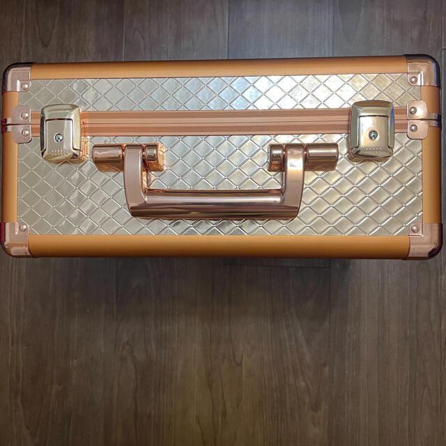 Francfranc(フランフラン)のヴァリーズ ハリウッドボックス S コッパー コスメ/美容のメイク道具/ケアグッズ(メイクボックス)の商品写真