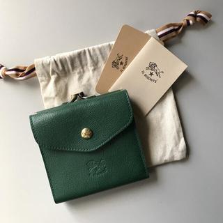 イルビゾンテ(IL BISONTE)の【新品】イルビゾンテ がま口 二つ折り財布 グリーン ヴェルデ(財布)