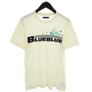 ブルーブルー(BLUE BLUE)のブルーブルー BLUE BLUE Tシャツ カットソー 半袖 プリント ロゴ ベ(Tシャツ/カットソー(半袖/袖なし))