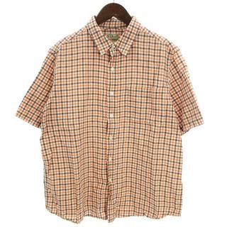 エルエルビーン(L.L.Bean)のエルエルビーン L.L.BEAN シャツ 半袖 チェック 理念 コットン混 オレ(シャツ)
