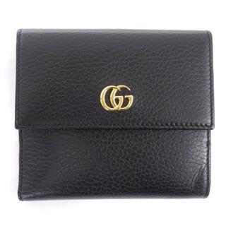Gucci - グッチ GUCCI プチマーモント フレンチフラップウォレット 二つ折り財布 W