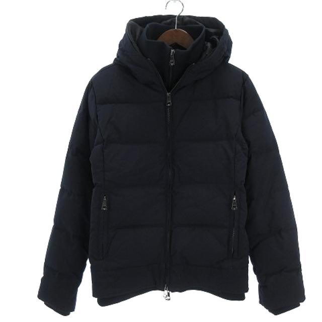 AKM(エイケイエム)のエーケーエム AKM ダウンジャケット スタンドネック レイヤード ダブルジップ メンズのジャケット/アウター(ダウンジャケット)の商品写真