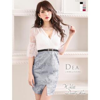 ROBE - 1830*高級刺繍スカート/ベルトドッキングドレス