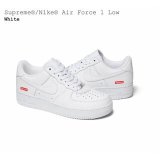 Supreme - supreme nike air force 1 low white us10
