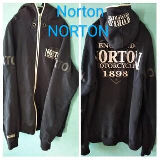 ノートン(Norton)のNorton ENGLAND NORTON MOTOR CYCKES パーカー(パーカー)