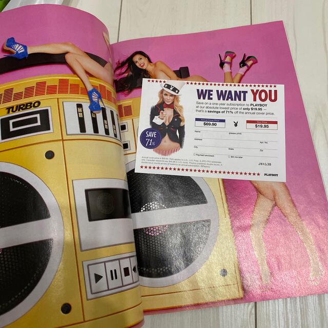 PLAYBOY(プレイボーイ)の【希少】PLAYBOY 雑誌 (ロサンゼルスで購入) エンタメ/ホビーの雑誌(専門誌)の商品写真