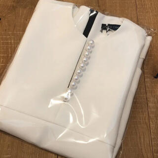 BARNEYS NEW YORK - 新品 YOKO CHAN Pearl Slit-line Blouse  36