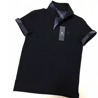 BLACK LABEL CRESTBRIDGE - 【新品】ブラックレーベルクレストブリッジ サッカー素材のオンオフ兼用ポロ M