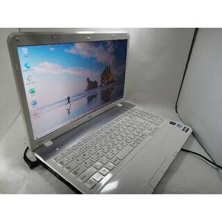 エヌイーシー(NEC)のNEC 白ノートパソコン 電池新品 超美品 SSD WIN10 Office付(ノートPC)