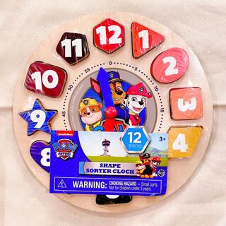 BorneLund - 【新品】パウパトロール paw patrol 英語木製ブロック時計 知育玩具