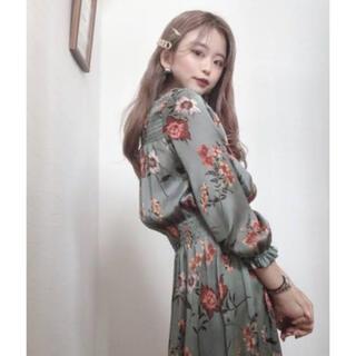 ZARA - ZARA 花柄ワンピース ブルー