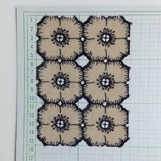 mina perhonen - ミナペルホネン  anemone  はぎれ 32