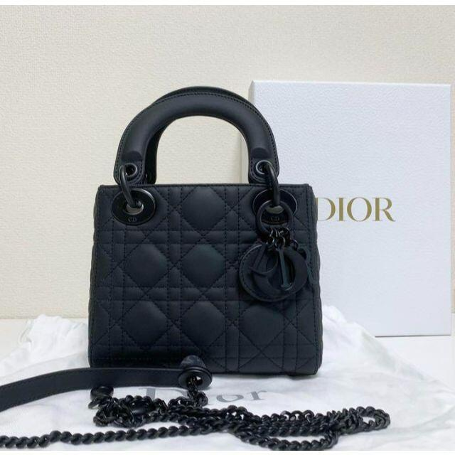 Christian Dior(クリスチャンディオール)のDior レディディオール ハンドバッグ マットブラック レディースのバッグ(ショルダーバッグ)の商品写真