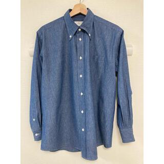 COMOLI - HERILL  カシミヤシャンブレーボタンダウンシャツ