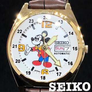 セイコー(SEIKO)の【ゴールド】SEIKO/ミッキーマウス/メンズ腕時計/イエロー/黄色/激レア(腕時計(アナログ))