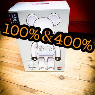 メディコムトイ(MEDICOM TOY)のBE@RBRICK 2GWHITECHROME100%&400%新品ベアブリック(その他)