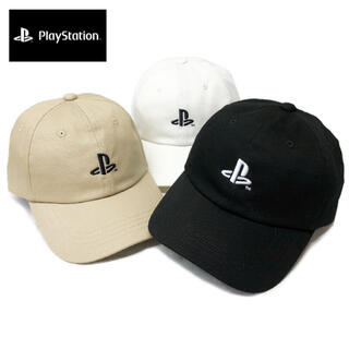 プレイステーション(PlayStation)のPlayStation プレイステーション ローキャップ 帽子 白/茶/黒(キャップ)