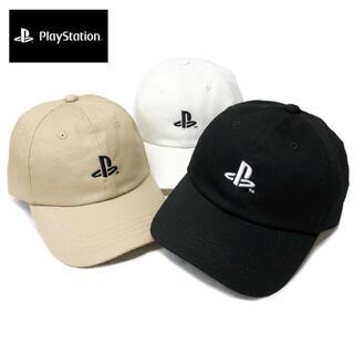 PlayStation プレイステーション ローキャップ 帽子 白/茶/黒
