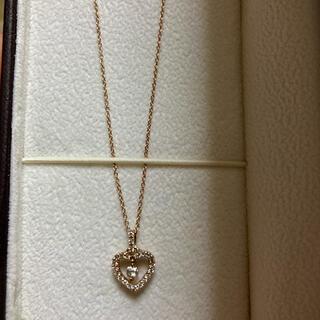 k18ピンクゴールド ダイヤモンドネックレス