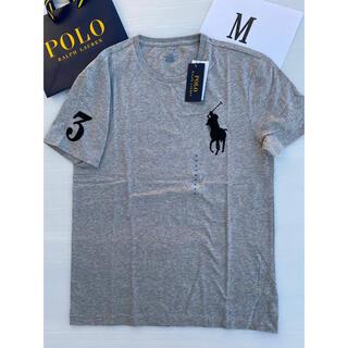 POLO RALPH LAUREN - メンズ M ラルフローレン Tシャツ 新品 グレー ♡ レディース キッズ にも