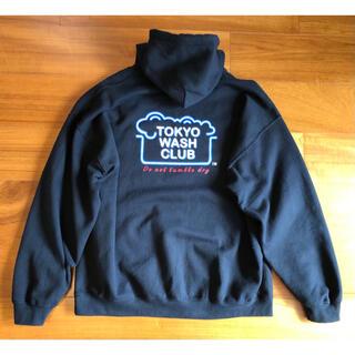 ダブルタップス(W)taps)のtokyo wash club パーカー フーディ ブラック XL(パーカー)